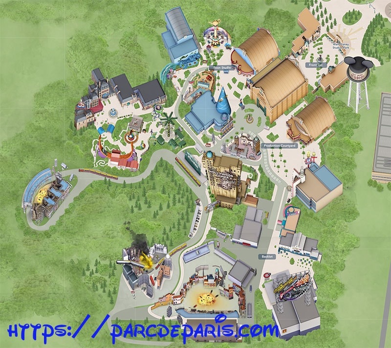 plan walt disney studio