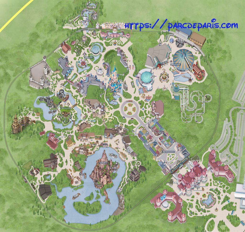 plan disneyland paris