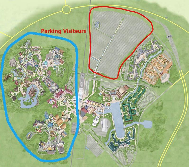 taille parking disneyland