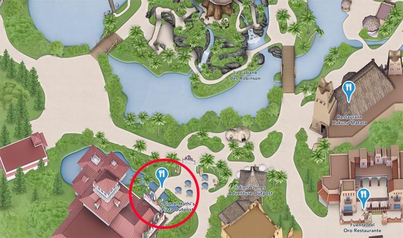 plan Colonel hathi's pizza outpost Disney paris