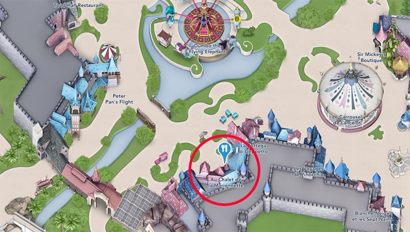plan chalet de la marionnette disneyland