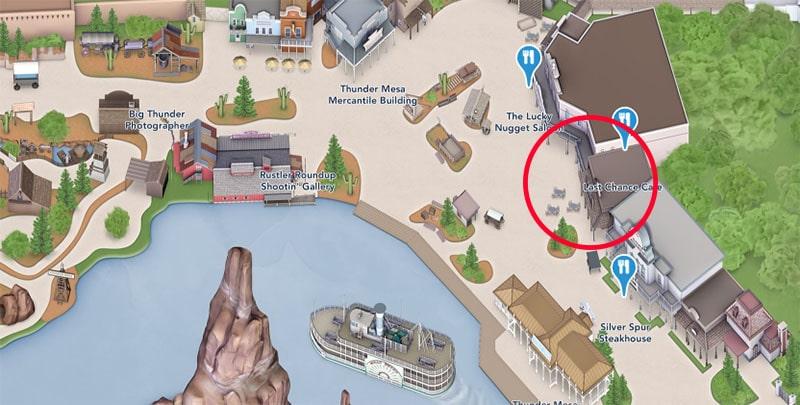 Plan du Last Chance Cafe Disney