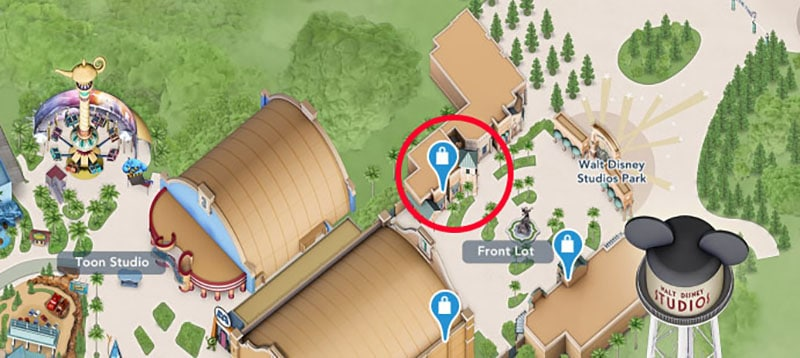 plan location poussette walt disney studio
