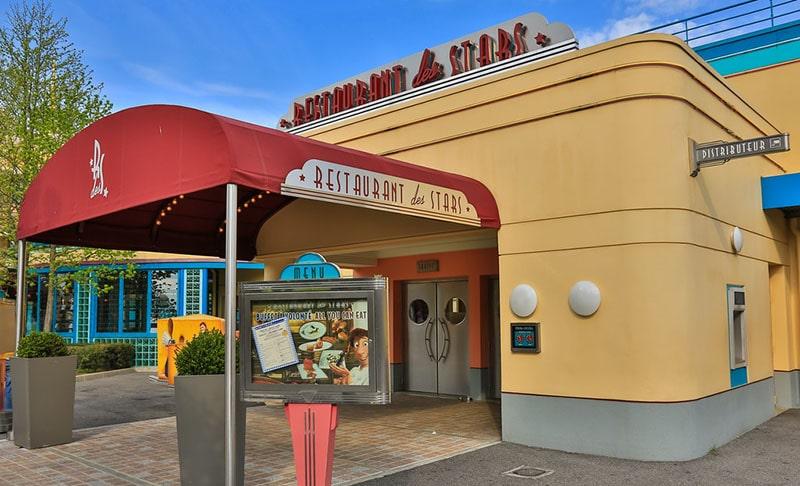 restaurant des stars disneyland paris