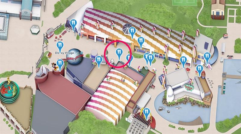 plan du Billy Bob's Country Western Saloon