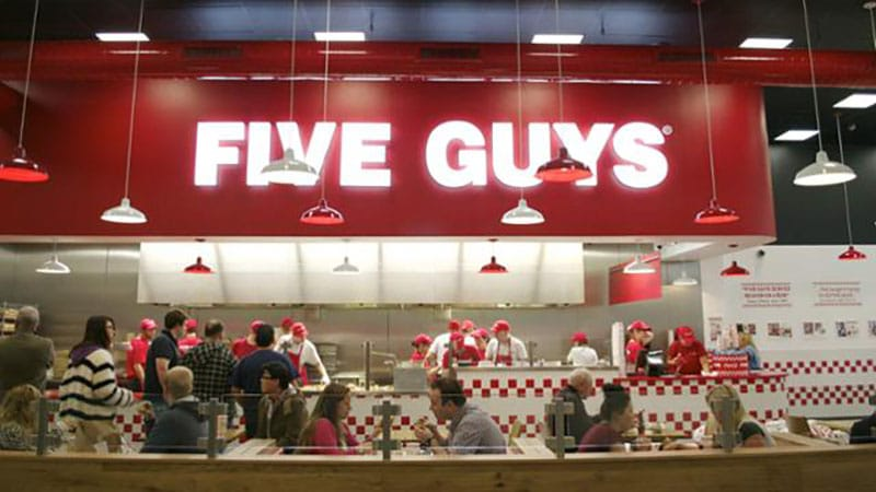 le five guys du disney village paris