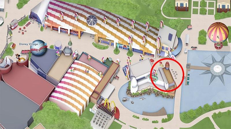 plan Earl of Sandwich Disneyland Paris