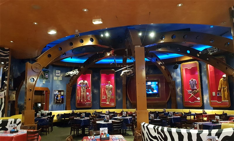 Planet Hollywood decors