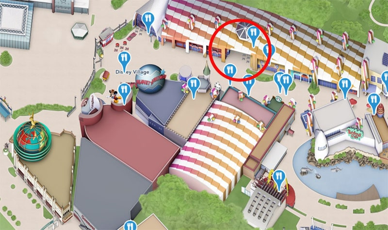 emplacement du Sports Bar du Disneyland