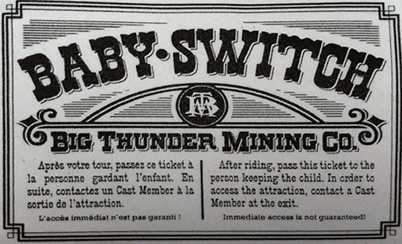 ticket baby switch de disneyland