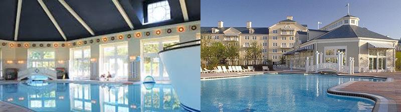 piscines intérieure et extérieure de l'hôtel NewportBay Club à Paris