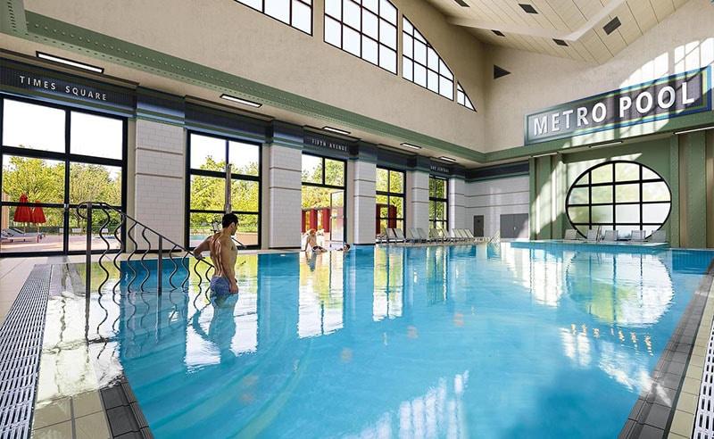 nouvelle piscine du hotel marvel new york