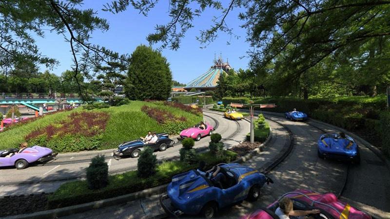 le circuit autopia de Disneyland paris