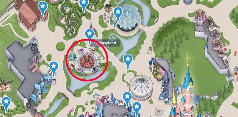 trouver l'entrée du manège Dumbo