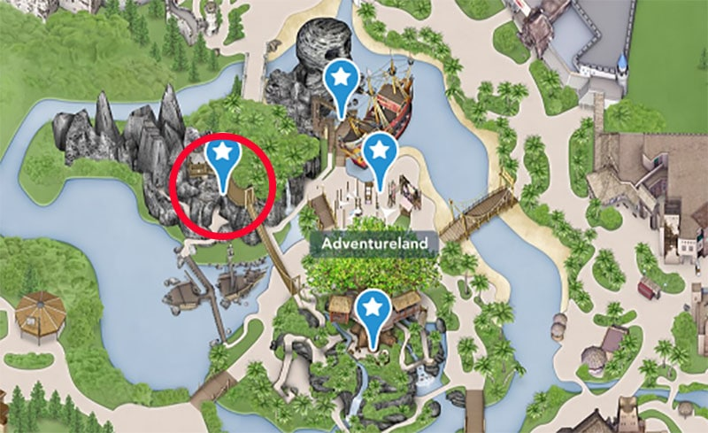carte attraction adventure isle