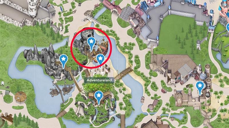 ou trouver la bateau pirate de Disneyland