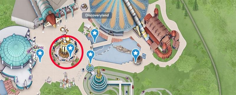 emplacement de l'attraction Orbitron