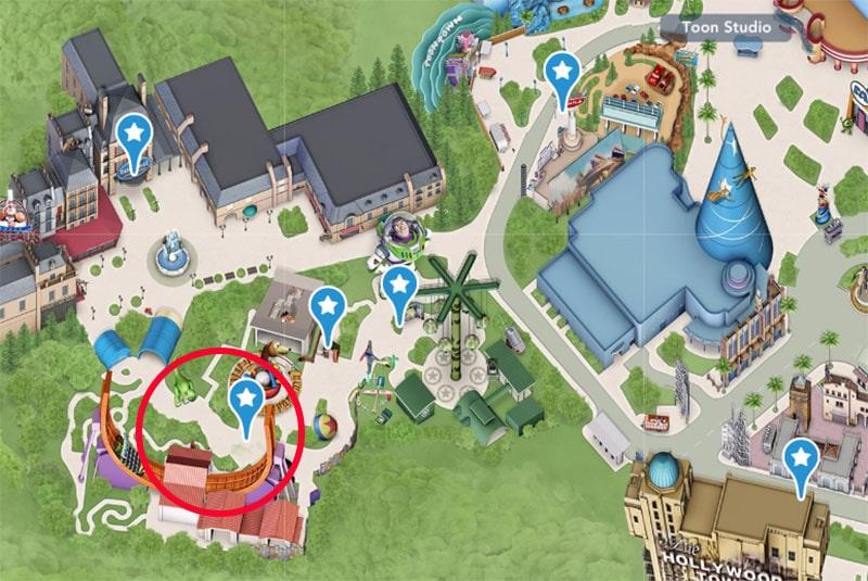 emplacement de l'attraction rc racer